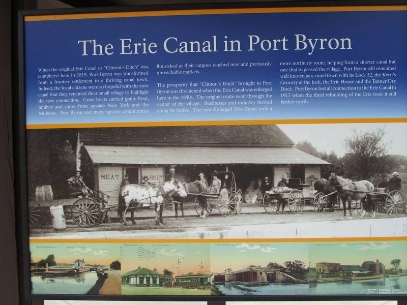 The Erie Canal in Port Byron Marker image. Click for full size.