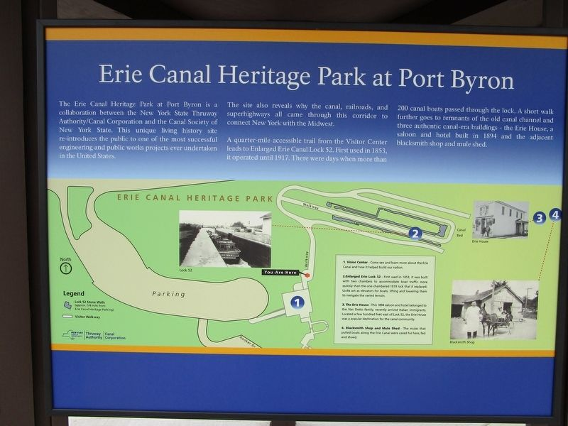 Erie Canal Heritage Park at Port Byron image. Click for full size.