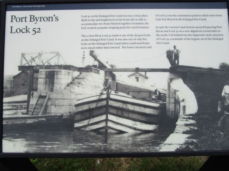 Port Byron's Lock 52 Marker image. Click for full size.