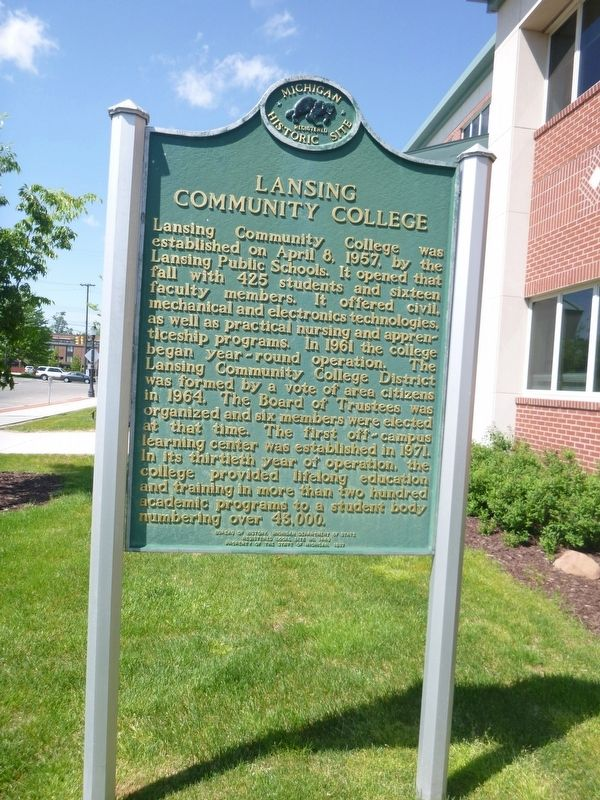 Lansing Community College Marker image. Click for full size.