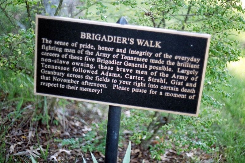 Brigadier's Walk Marker image. Click for full size.