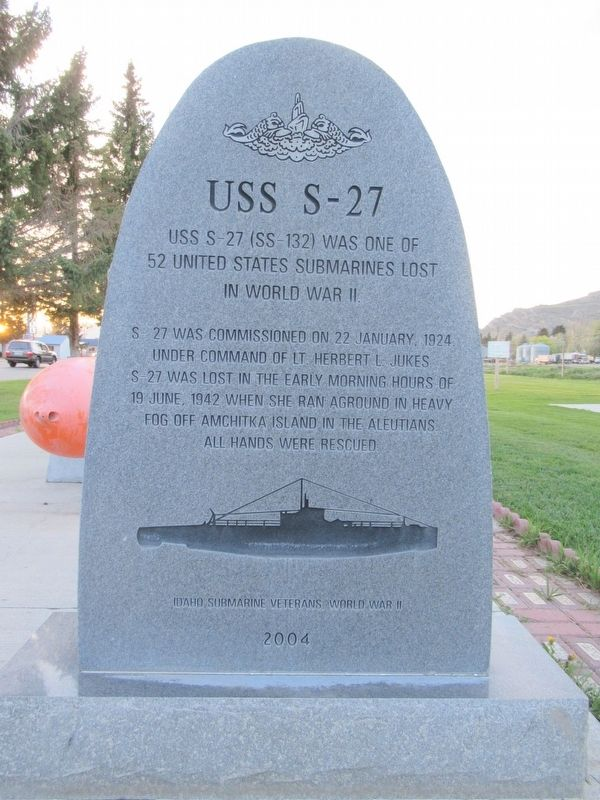 USS S-27 Marker image. Click for full size.