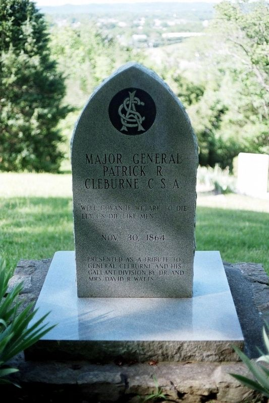 Major General Patrick R. Cleburne CSA Marker image. Click for full size.
