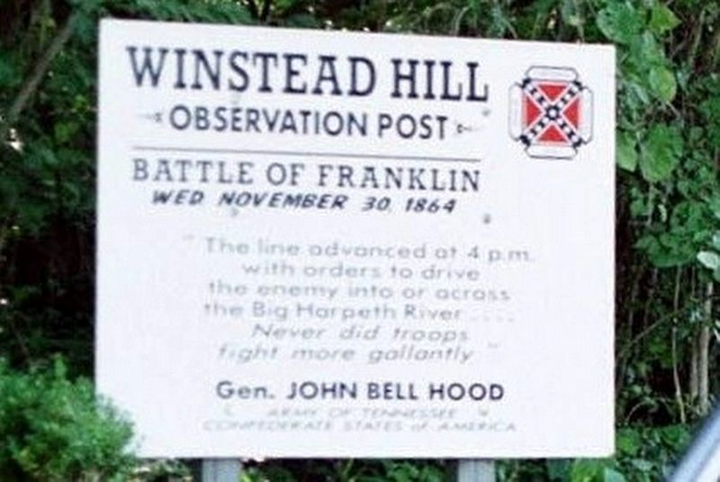 Winstead Hill Observation Post Marker image. Click for full size.