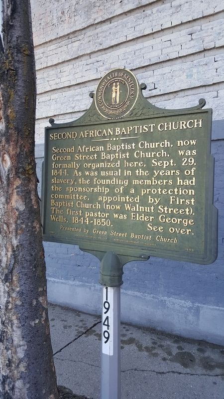 Second African Baptist Church Marker image. Click for full size.