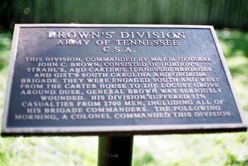 Brown's Division Marker image. Click for full size.
