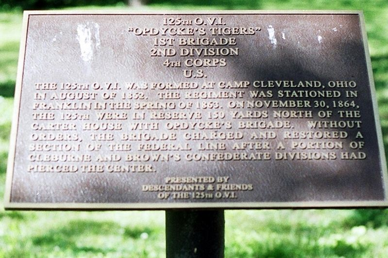 125th O.V.I. Marker image. Click for full size.