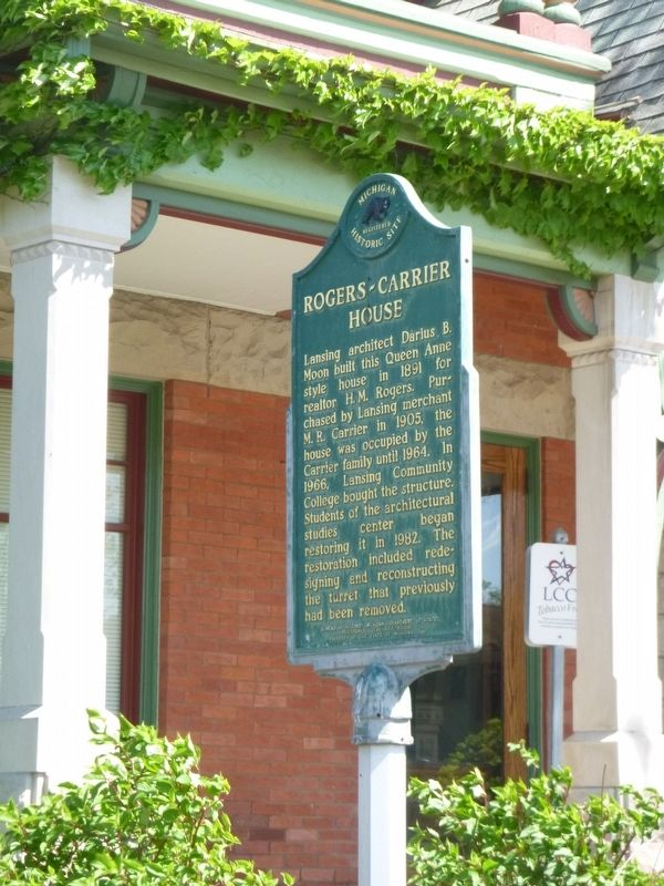 Rogers-Carrier House Marker image. Click for full size.