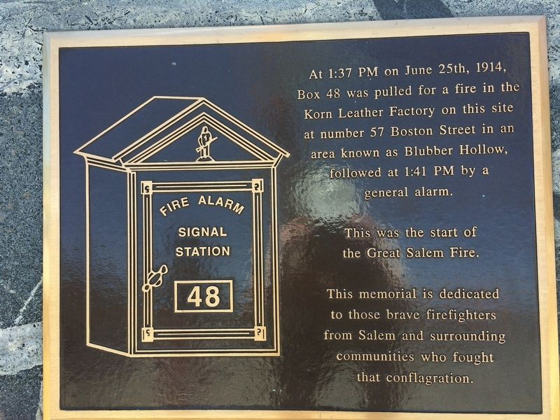 Great Salem Fire Alarm Marker image. Click for full size.