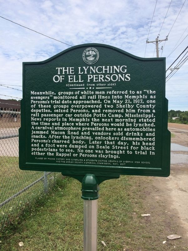 The Lynching of Ell Persons Reverse image. Click for full size.
