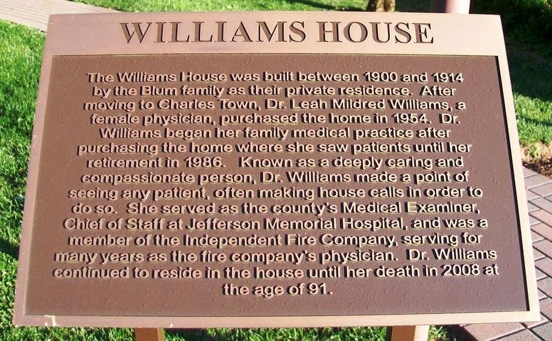Williams House Marker image. Click for full size.