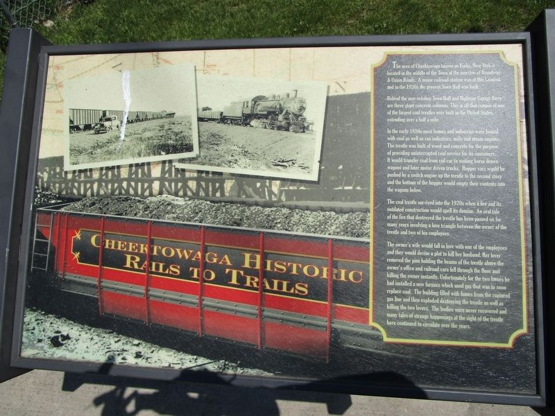 Cheektowaga Historic Rails to Trails Marker image. Click for full size.