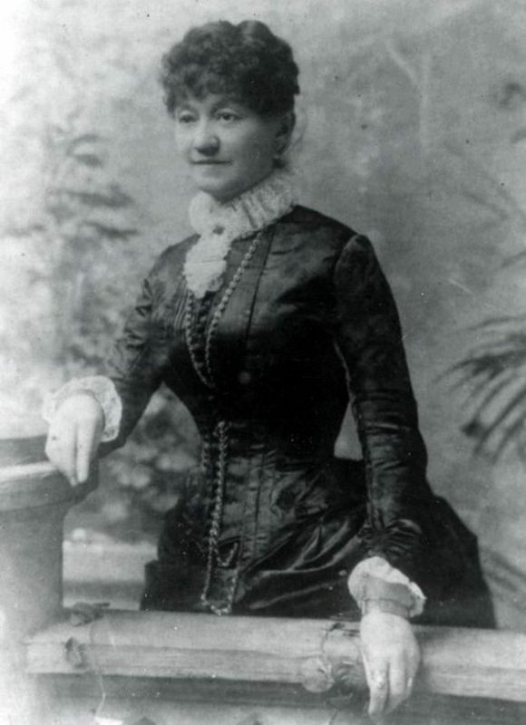 Susan McSween at the time of the Lincoln County War, circa 1870s image. Click for full size.
