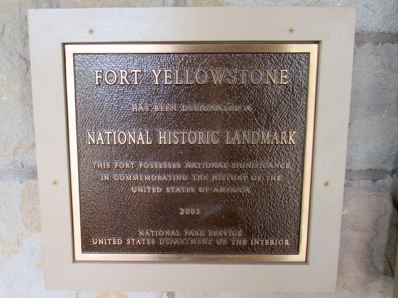 Fort Yellowstone Marker image. Click for full size.