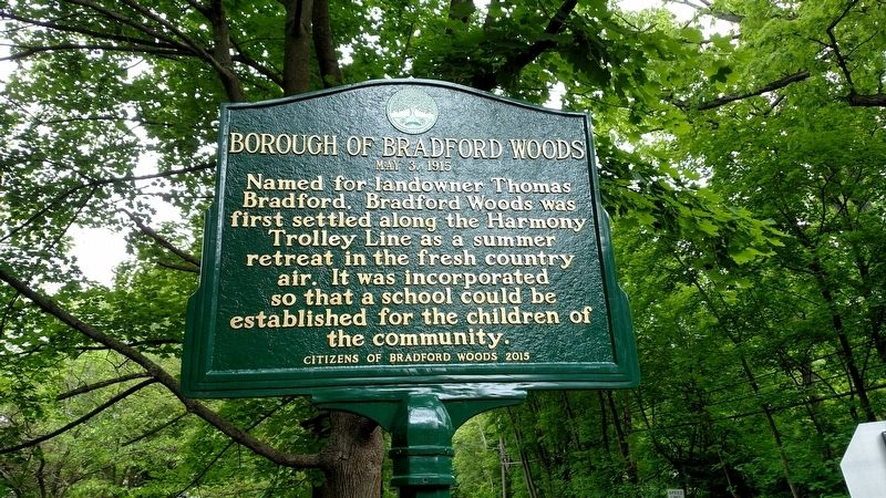 Borough of Bradford Woods Marker image. Click for full size.