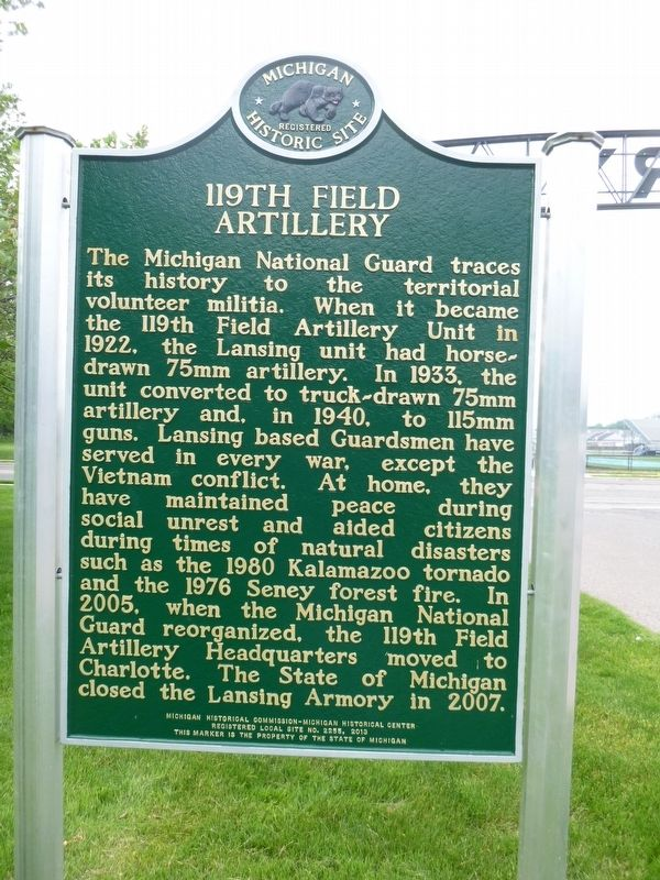 119th Field Artillery Marker image. Click for full size.
