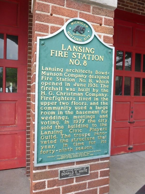 Lansing Fire Station No. 8 Marker image. Click for full size.