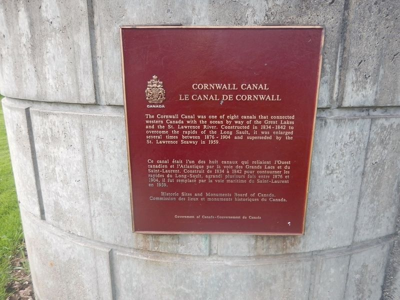 Cornwall Canal Marker image. Click for full size.