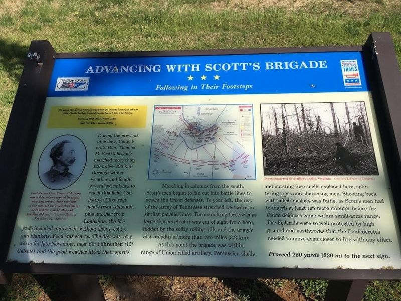 Advancing With Scott's Brigade Marker image. Click for full size.