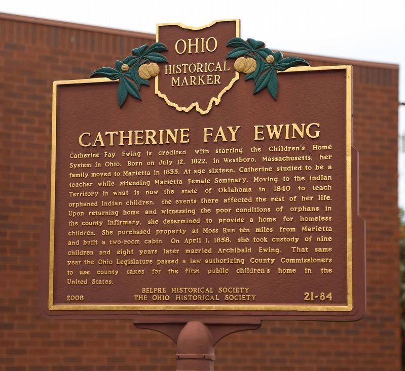Catherine Fay Ewing Face of Marker image. Click for full size.