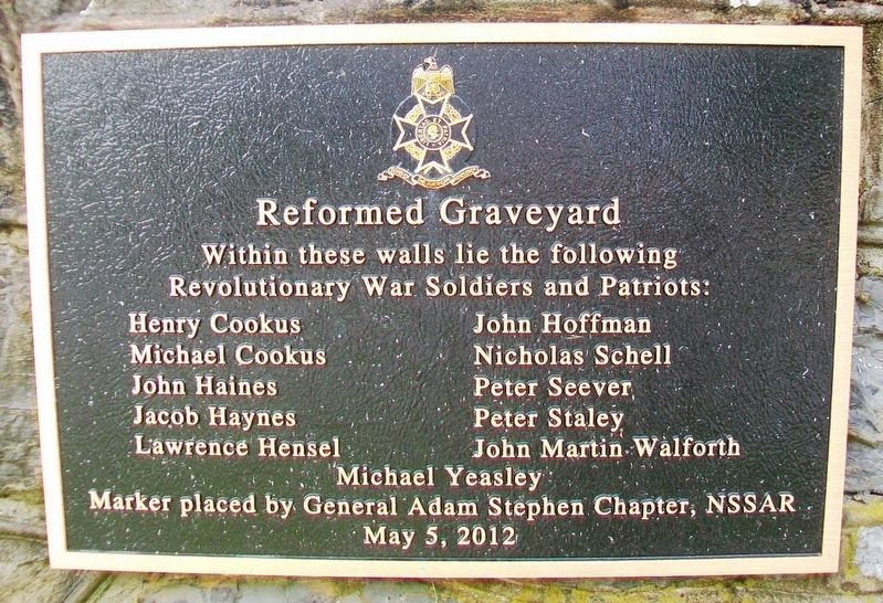 Reformed Graveyard Marker image. Click for full size.