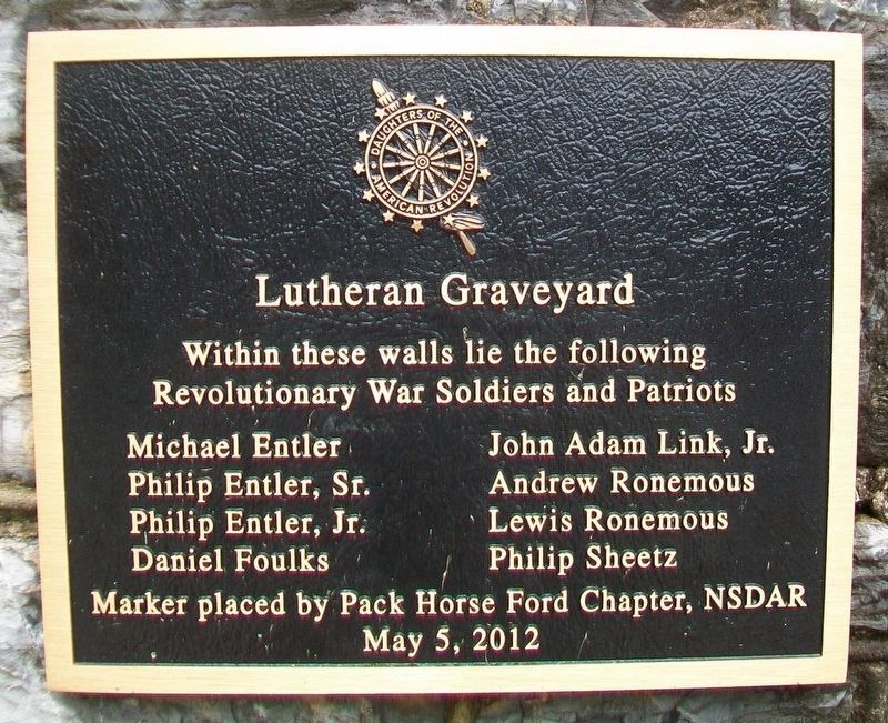 Lutheran Graveyard Marker image. Click for full size.