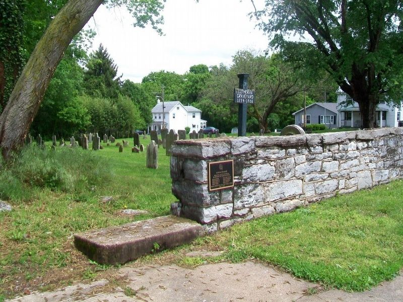 Lutheran Graveyard and Marker image. Click for full size.