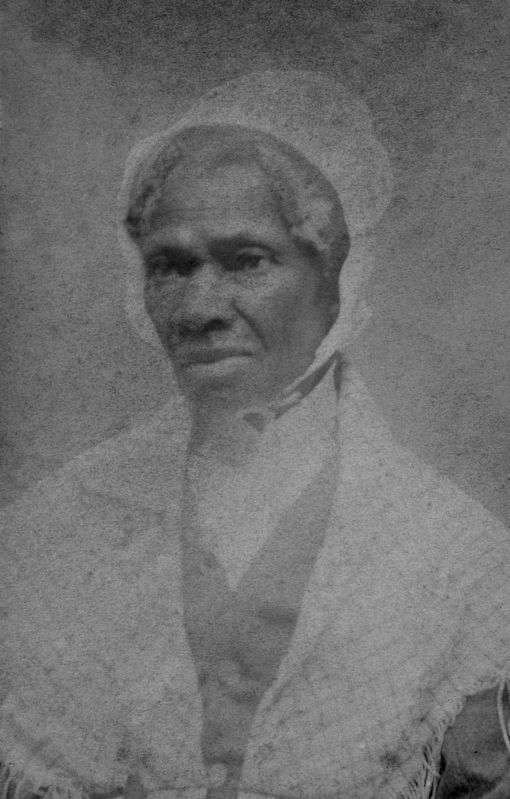 Sojourner Truth (c. 1797 – 1883), lecturer, abolitionist and women's rights activist image. Click for full size.