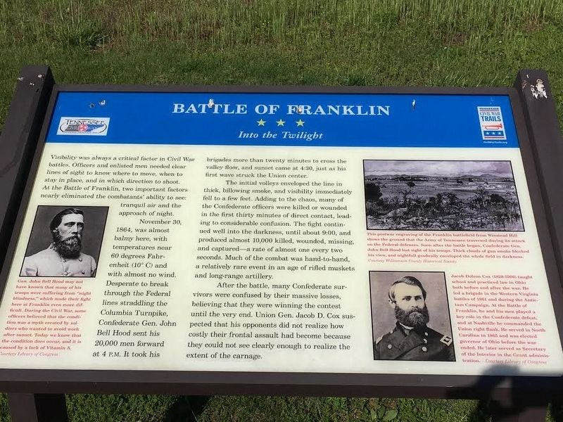 Battle of Franklin Marker image. Click for full size.
