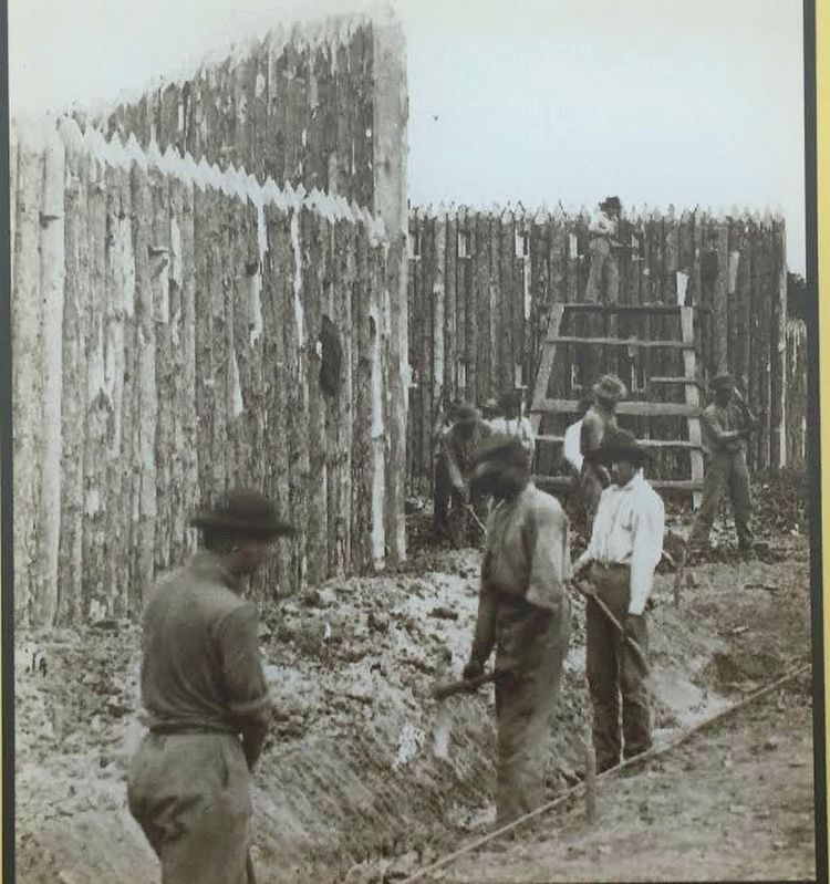 African Americans constructing military stockade and ditch image. Click for full size.