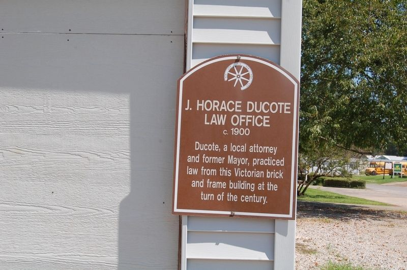 J. Horace Ducote Law Office Marker image. Click for full size.