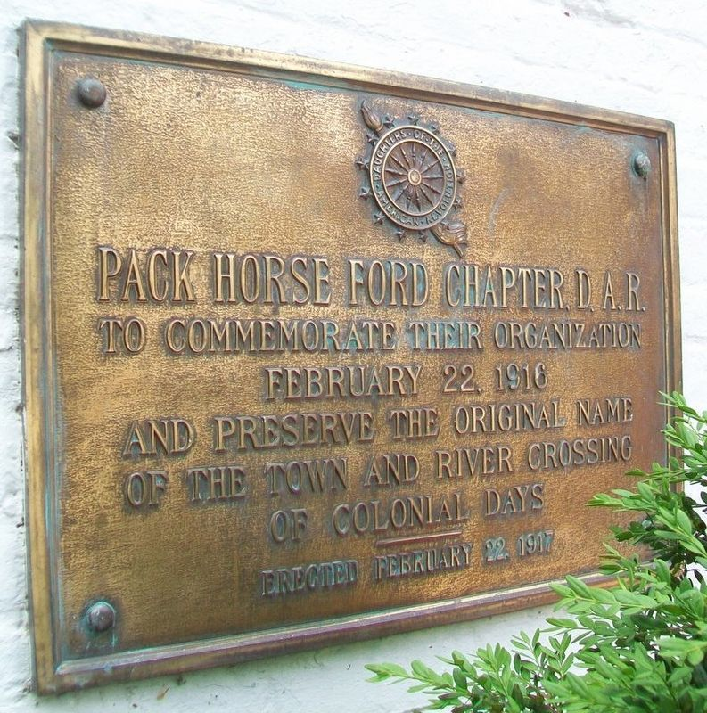 Pack Horse Ford Chapter, D.A.R. Marker image. Click for full size.