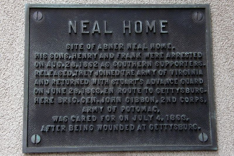 Neal Home Marker image. Click for full size.