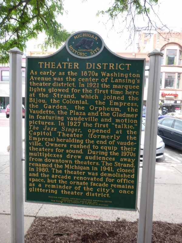 Theater District Marker image. Click for full size.