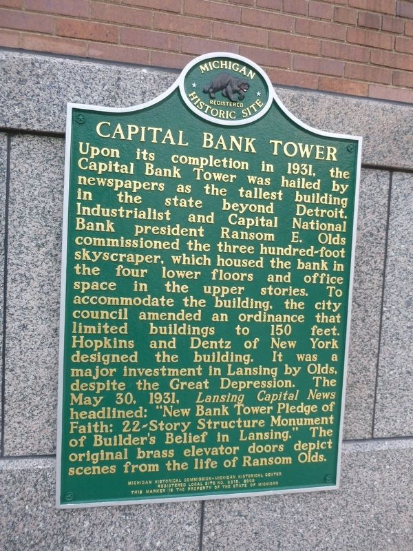 Capital Bank Tower Marker image. Click for full size.