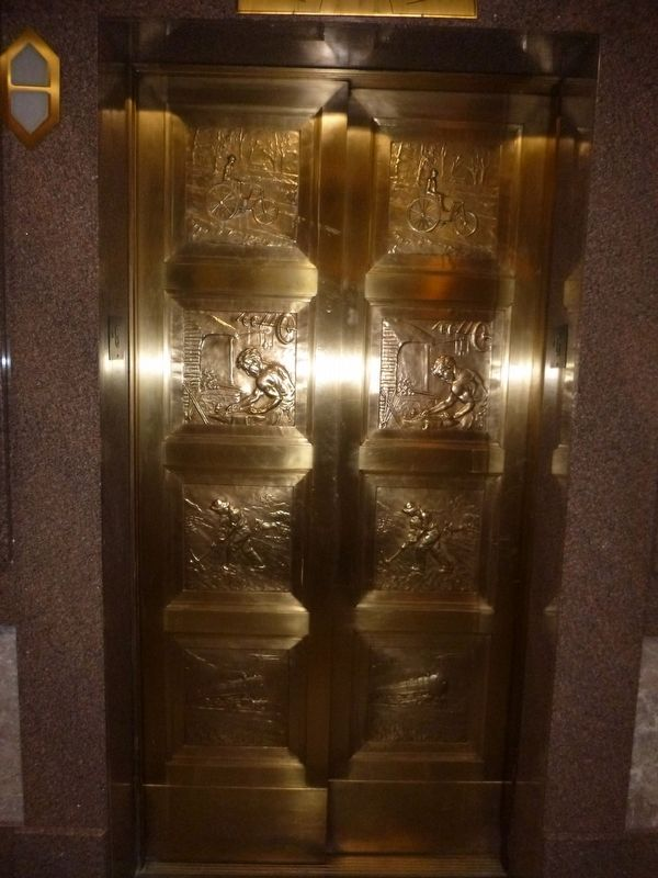 Capital Bank Tower Elevator Door image. Click for full size.