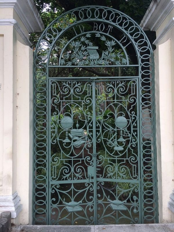 A wrought iron entryway of the Botanical Garden of Guatemala City image. Click for full size.