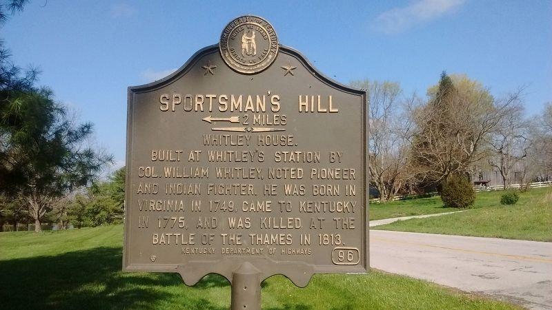 Sportsman's Hill Marker image. Click for full size.