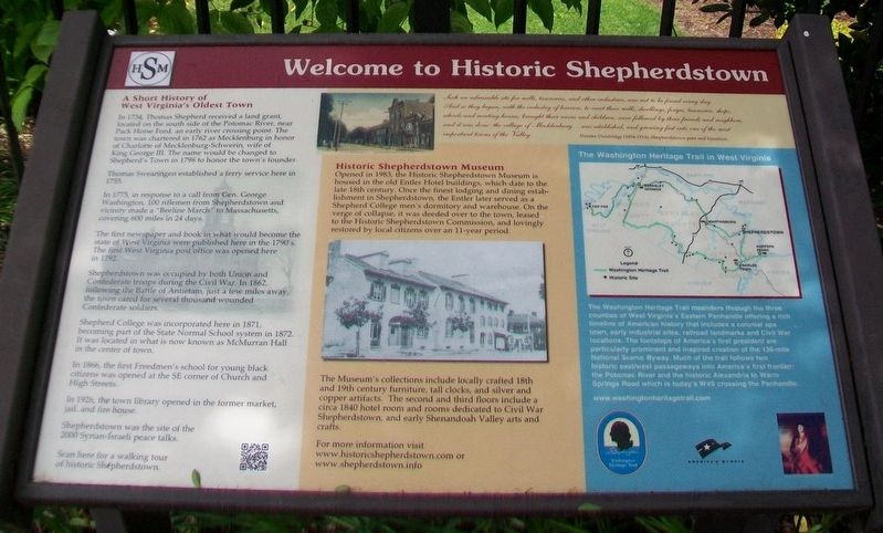 Welcome to Historic Shepherdstown Marker image. Click for full size.
