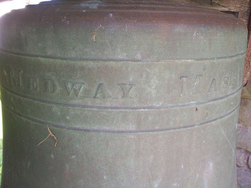 Original Congregational Bell Detail image. Click for full size.