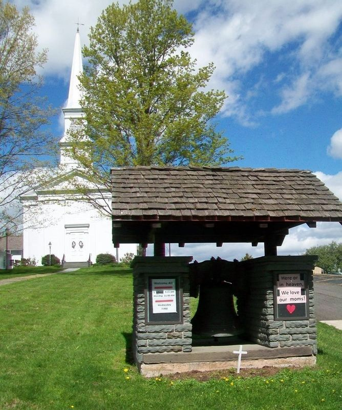 Congregational Church and Original Congregational Bell image. Click for full size.