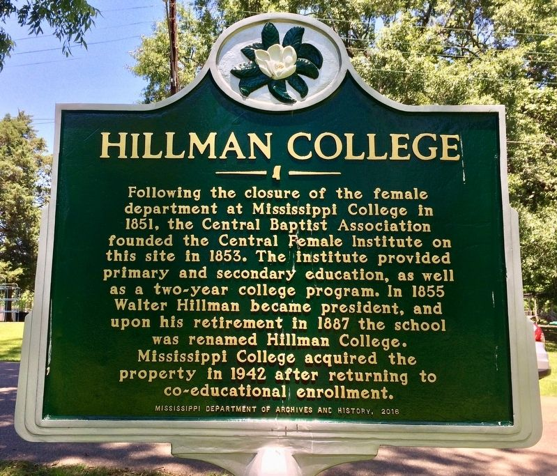 Hillman College Marker image. Click for full size.