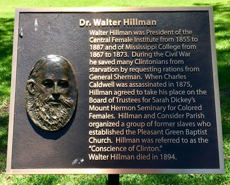 Dr. Walter Hillman plaque, next to this marker. image. Click for full size.