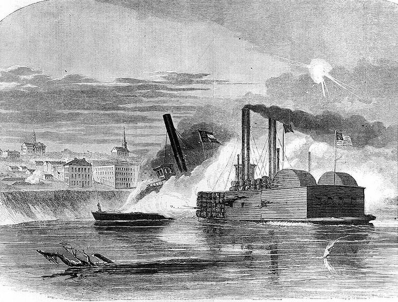 The <i>Vicksburg</i> & <i>Queen of the West.</i> image. Click for full size.