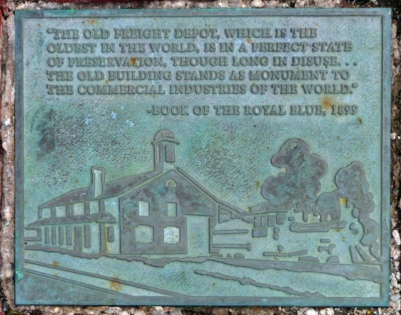 Old Freight Depot Marker image. Click for full size.