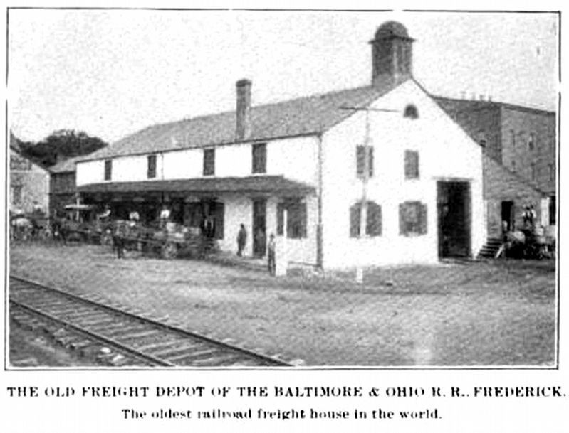 Old Freight Depot of the Baltimore & Ohio R.R. Frederick image. Click for full size.
