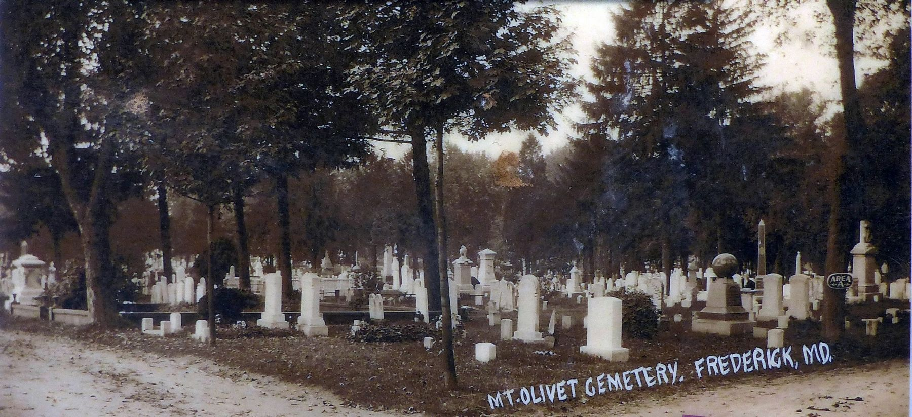 Mount Olivet Cemetery, Frederick, MD. image. Click for full size.