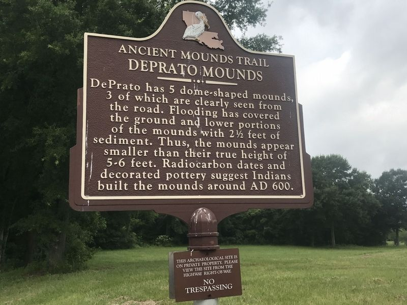 Deprato Mounds Marker image. Click for full size.
