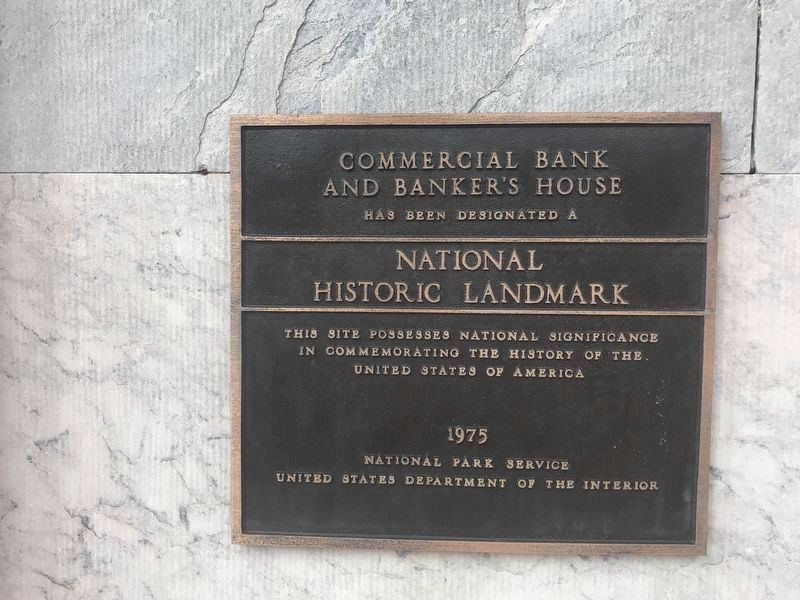 Commercial Bank Building NHL Marker image. Click for full size.