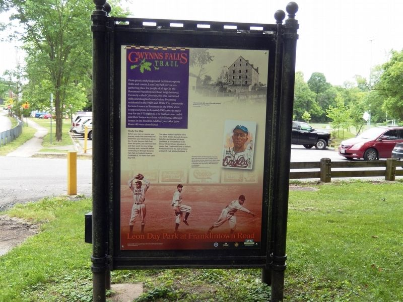 Gwynns Falls Trail Marker-Front side image. Click for full size.